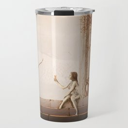 Woman who offers beverage to an archer. Travel Mug