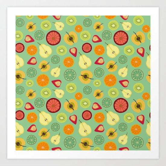 Yummy pattern Art Print