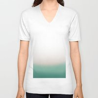 turquoise V-neck T-shirts featuring Turquoise by Flor Jan
