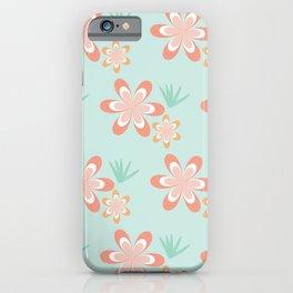 Retro Tropical Flowers iPhone Case