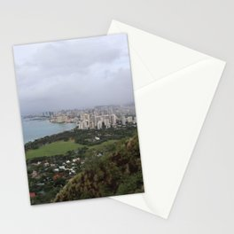 View from Diamondhead mtn in Hawaii Stationery Cards