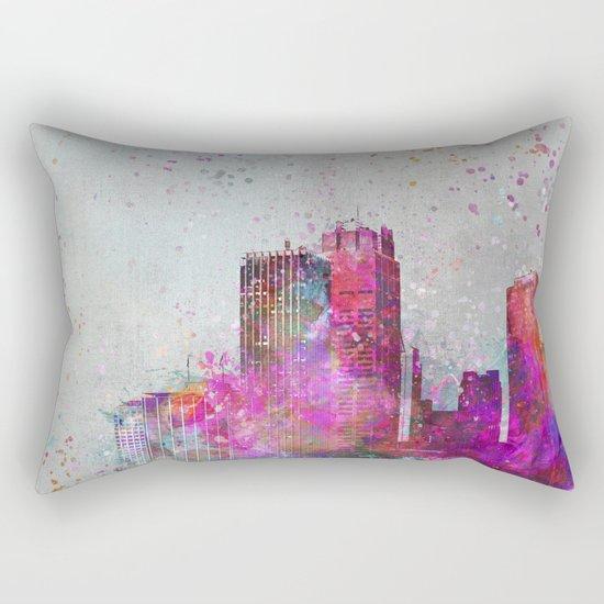City of colors metropolis mixed media art Rectangular Pillow