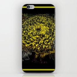 Black yellow art iPhone Skin