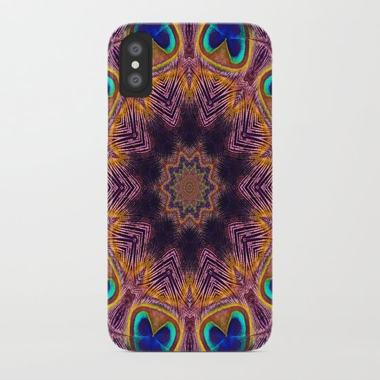 Peacock Fan Star Abstract iPhone Case