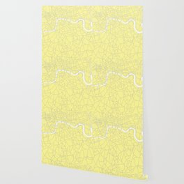 London Yellow on White Street Map Wallpaper