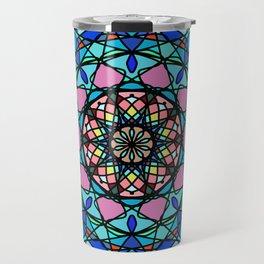 Round ornament in ethnic style Travel Mug