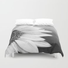 B&W Sunflower Duvet Cover