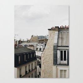 Tops of Paris Canvas Print