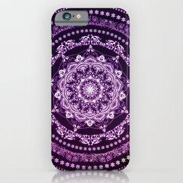 Purple Glowing Soul Mandala iPhone Case
