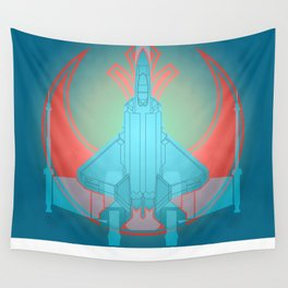 Into the future USAF F22 Wall Tapestry