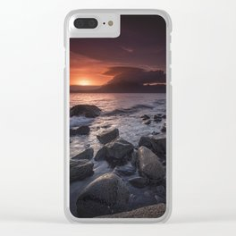 Elgol Beach V Clear iPhone Case
