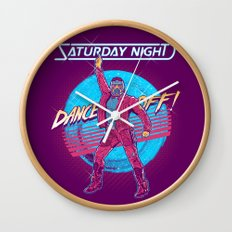 Saturday Night Dance-Off Wall Clock