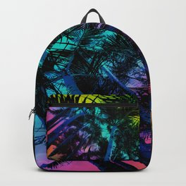 The Palm Trees Under the Seaside Rainbow Backpack