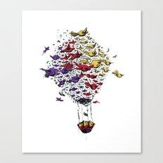 BIRD BALLON Canvas Print