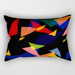 "Triangled 04. ""Chaos"" Rectangular Pillow"