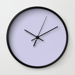 Periwinkle Purple Solid Color Wall Clock
