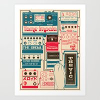 tame impala Art Prints featuring Tame Impala Pedals by Pancho Veit