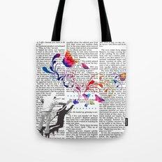 Nature's comeback graffiti Tote Bag