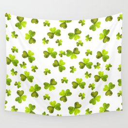 St. Patricks Day Clover Wall Tapestry