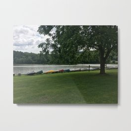 Relaxing by the Water Metal Print