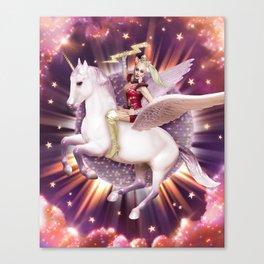 Andora: Drag Queen Riding a Unicorn Canvas Print