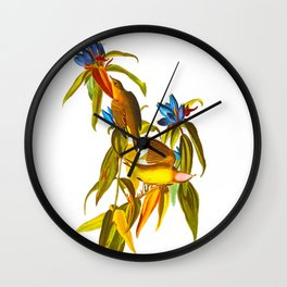 Connecticut Warbler Bird Wall Clock