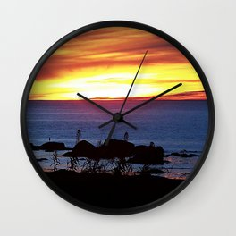Sunset Swirling Clouds Wall Clock