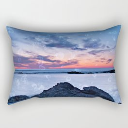 Seascape at sunset in northern Portugal Rectangular Pillow