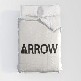Arrow being an arrow / One word creative typography design Comforters