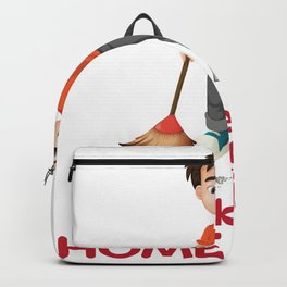 House Smile Clean Man Professional Housekeeper Gift Backpack
