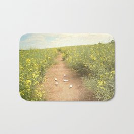 meadow of paperboats Bath Mat