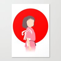 chihiro Canvas Prints featuring Chihiro by adovemore