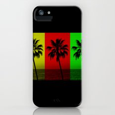 Palm Trees in Red, Gold, and Green Slim Case iPhone (5, 5s)