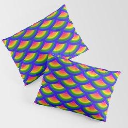 Rainbow Fish Scales Mermaid Pattern Pillow Sham