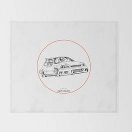 Crazy Car Art 0217 Throw Blanket