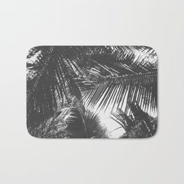Tropical Black and White Bath Mat