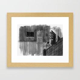 Late night visit Framed Art Print