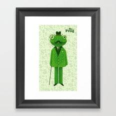 Mr. Frog Framed Art Print