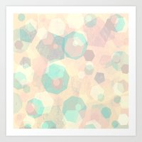 Pastel Geometric Pattern No 1  Art Print