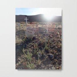 Unknown man graveyard Metal Print