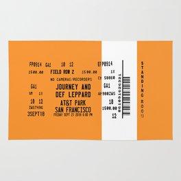 Concert Ticket Stub - Journey at AT&T Park - SF ORANGE Rug