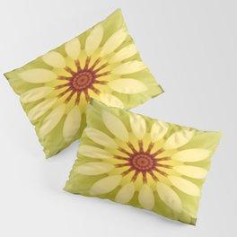 Yellow Lime Flower Mandala Pillow Sham