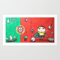 portugal Art Prints featuring Portugal by Ana  La Bella Carapinheiro
