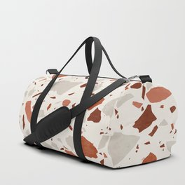 Abstract Brown Terrazzo Duffle Bag