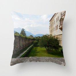 View Atop of Castello del Buonconsiglio Throw Pillow