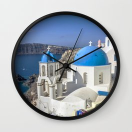 Santorini, Oia Village, Greece Wall Clock