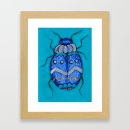 Beetle Bug Art - Insect Charcoal Acrylic Painting Framed Art Print