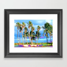Miami Palms Framed Art Print
