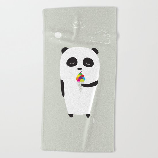 The Happy Ice Cream Beach Towel