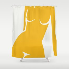 Cubism in nude Shower Curtain
